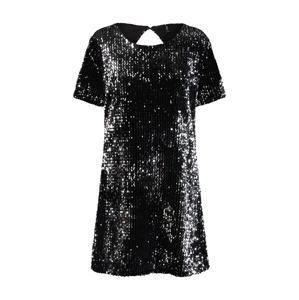 ONLY Koktejlové šaty 'onlCONFIDENCE'  černá / stříbrná