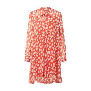 Freebird Šaty 'Celeste'  bílá / oranžově červená