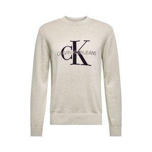 Calvin Klein Jeans Svetr  béžová / šedý melír