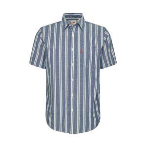 LEVI'S Košile 'SS CLASSIC 1 PKT STANDARD'  bílá / modrá