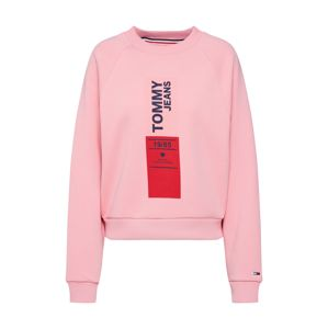 Tommy Jeans Mikina 'vertical logo'  pink