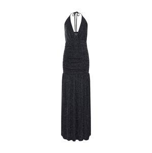 Carolina Cavour Společenské šaty 'long dress'  stříbrně šedá / tmavě šedá