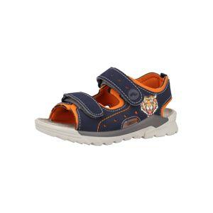 RICOSTA Otevřená obuv  kobaltová modř / oranžová