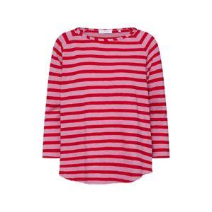 Rich & Royal Tričko 'Heavy Jersey Longsleeve striped'  červená
