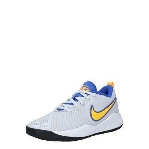 NIKE Sportovní boty 'Team Hustle Quick 2'  žlutá / světle šedá / bílá