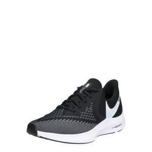NIKE Běžecká obuv 'Nike Air Zoom Winflo 6'  černá / bílá