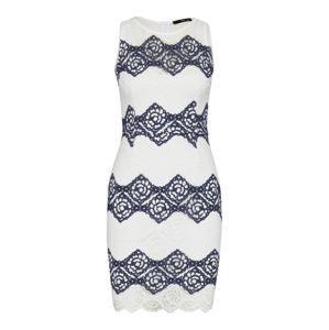 TFNC Koktejlové šaty 'Carla'  námořnická modř / bílá