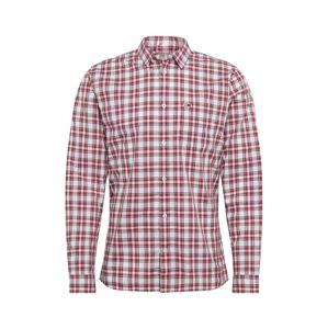 Tommy Jeans Košile 'TJM ESSENTIAL CHECK POCKET SHIRT'  bílá / červená