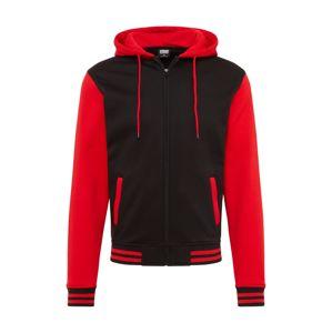 Urban Classics Mikina s kapucí  černá / červená