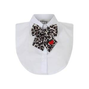 Pinned By K Límec 'Collar white with bowtie'  hnědá / bílá