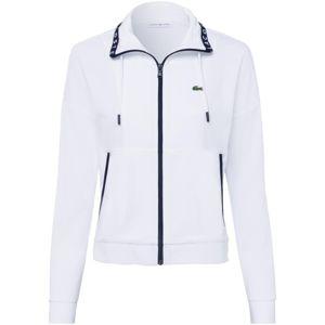 LACOSTE Mikina s kapucí  bílá