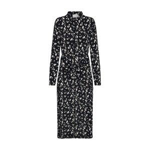 Neo Noir Košilové šaty 'Vega Night Flower Dress'  černá