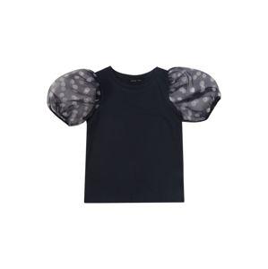NAME IT Tričko 'NLFFLORA BALLOON SHORT TOP'  noční modrá
