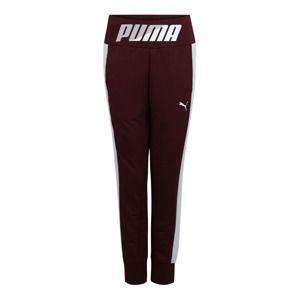 PUMA Sportovní kalhoty 'MODERN SPORT'  vínově červená / bílá
