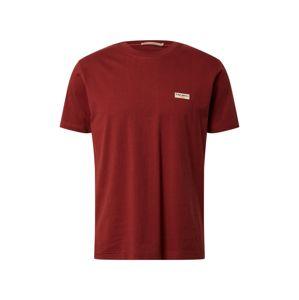 Nudie Jeans Co Tričko 'Daniel Logo'  rezavě červená