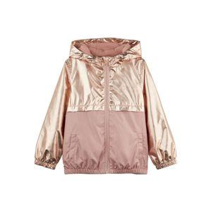 NAME IT Přechodná bunda  růžově zlatá / starorůžová
