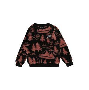Picture Organic Clothing Sportovní svetr 'Away Crew'  rezavě červená / černá